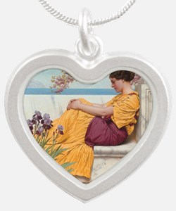Under the Blossom that Hangs Silver Heart Necklace