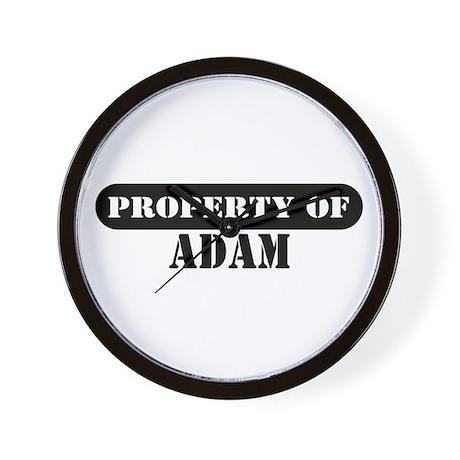 Property of Adam Wall Clock