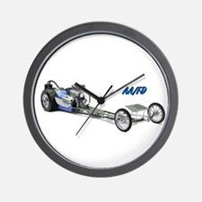 Blue Fuel Dragster Wall Clock