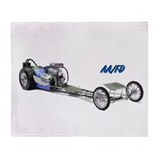 Blue Fuel Dragster Throw Blanket