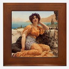 With Violets Wreathed and Robe of Saff Framed Tile