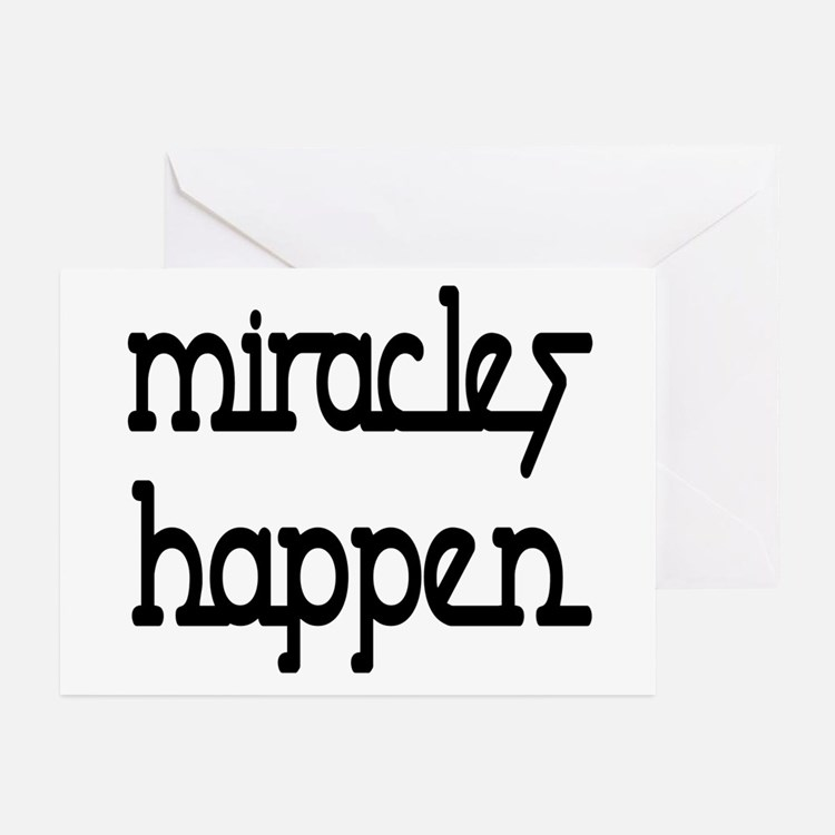 Miracles Happen Greeting Cards (Pk of 10)