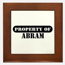 Property of Abram Framed Tile