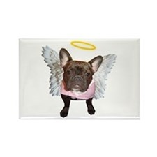 Angel Frenchie Rectangle Magnet