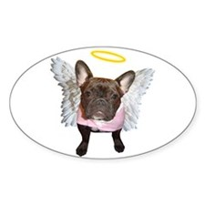 Angel Frenchie Oval Decal