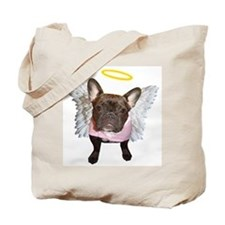 Angel Frenchie Tote Bag