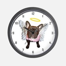 Angel Frenchie Wall Clock