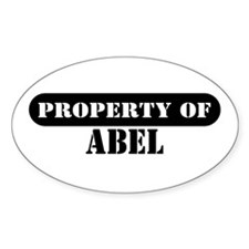 Property of Abel Oval Decal