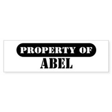 Property of Abel Bumper Car Sticker