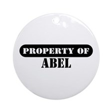 Property of Abel Ornament (Round)