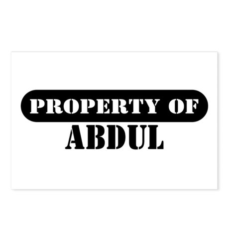 Property of Abdul Postcards (Package of 8)