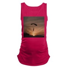Sunset Skydiver Maternity Tank Top