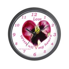 Love, with all my Heart Wall Clock