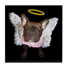 Angel Frenchie Tile Coaster
