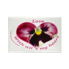 Love, with all my Heart Rectangle Magnet (10 pack