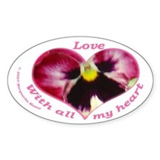 Love, with all my Heart Oval Decal