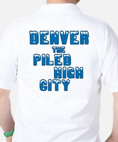 Piled High Mile High City Golf Shirt