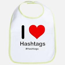 I Heart Hashtags Bib
