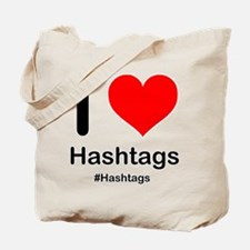 I Heart Hashtags Tote Bag