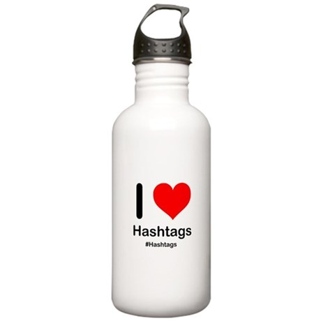 I Heart Hashtags Stainless Water Bottle 1.0L