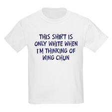Thinking About Wing Chun Kids T-Shirt
