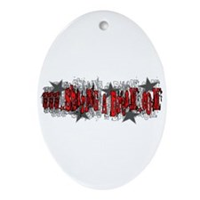 Hip Cassie Oval Ornament
