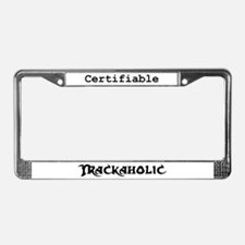 Trackaholic License Plate Frame