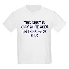 Thinking About Spud Kids T-Shirt