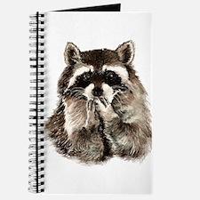 Cute Humorous Watercolor Raccoon Blowing a Kiss Jo