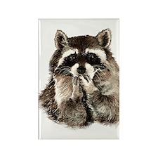 Cute Humorous Watercolor Raccoon Blowing a Kiss Ma