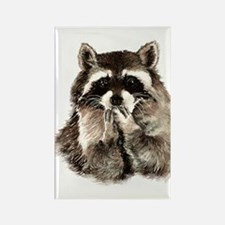 Cute Humorous Watercolor Raccoon Blowing a Kiss Ma