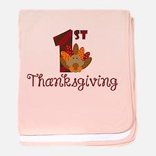 1st Thanksgiving baby blanket