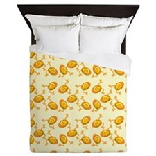 Easter eggs running pattern Queen Duvet