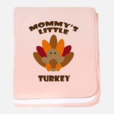 Mommys Little Turkey baby blanket