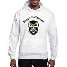 Retro Halloween Owl and Spider Hoodie