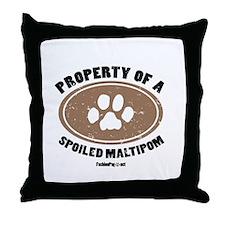 Maltipom dog Throw Pillow