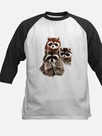 Cute Watercolor Raccoon Animal Family Baseball Jer