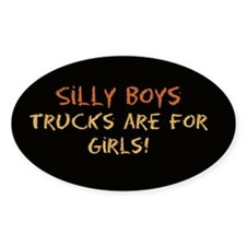 Trucks are for Girls Oval Decal