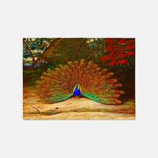 Golden Peacock 5'x7'Area Rug