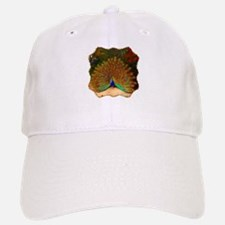Golden Peacock Baseball Baseball Cap