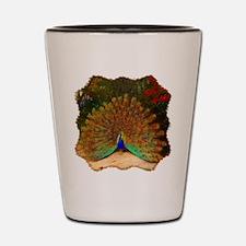 Golden Peacock Shot Glass