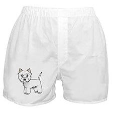 Cute Westie Dog Boxer Shorts