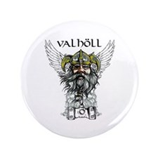 "Valhöll Viking Warrior 3.5"" Button"