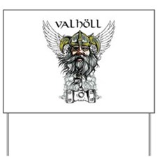 Valhöll Viking Warrior Yard Sign