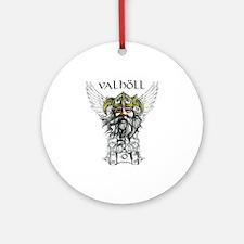 Valhöll Viking Warrior Ornament (Round)