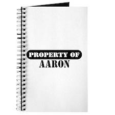 Property of Aaron Journal