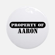 Property of Aaron Ornament (Round)