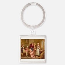 Betsy Ross Designing The Tea Party Flag Keychains