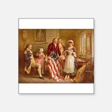 Betsy Ross Designing The Tea Party Flag Sticker
