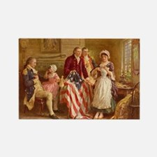 Betsy Ross Designing The Tea Party Flag Magnets
